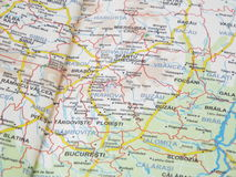 Romanian drive map Stock Images