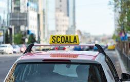 Romanian driving school car sign Stock Photos