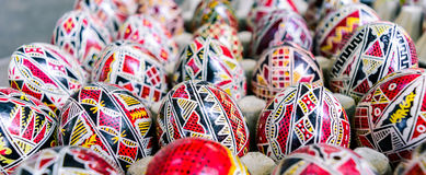 Romanian Easter eggs Stock Images