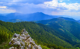 Romanian eastern Carpathian mountains Royalty Free Stock Photo