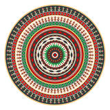 Romanian embroidery design. Traditional Romanian round decorative element,  template Royalty Free Stock Images