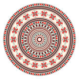 Romanian embroidery design. Traditional Romanian round decorative element,  template Royalty Free Stock Photo