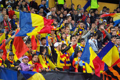 Romanian fans Royalty Free Stock Photo