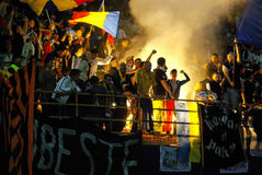 Romanian fans Stock Photography