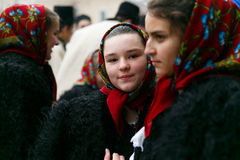 Romanian festival in traditional costume Royalty Free Stock Image