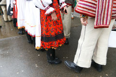 Romanian festival in traditional costume. The annual festival of traditions located in Maramures, Romania Stock Image