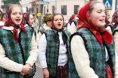 Romanian festival in traditional costume Stock Photo