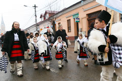 Romanian festival in traditional costume Stock Photography
