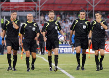 Romanian FIFA Referees Stock Photos