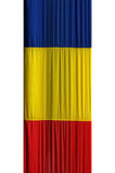 Romanian flag. With blue, yellow and red colors royalty free stock images