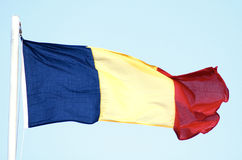Romanian flag. National flag of Romania royalty free stock photo