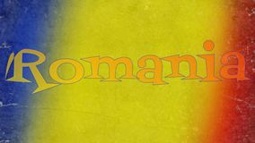 Romanian flag banner design Stock Photography