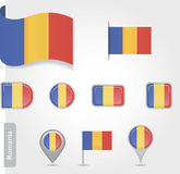 Romanian flag icon Stock Image