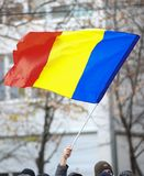 12/01/2018 - Romanian flag at the National Day celebrations stock photo
