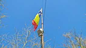 Romanian Flag at Tampa Mountain, Brasov Stock Photography