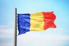 Romanian flaga Obraz Royalty Free