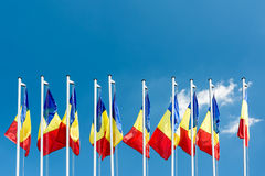 Romanian Flags Royalty Free Stock Photo