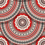 Romanian folk art pattern. Vector seamless geometric pattern with detailed Romanian folk motif Stock Photo