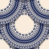 Romanian folk art pattern. Vector seamless geometric pattern with detailed Romanian folk motif Stock Photos