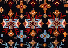 Romanian folk seamless pattern ornaments. Romanian traditional embroidery. Ethnic texture design. Traditional carpet design. Carpe. T ornaments. Rustic carpet Stock Photo