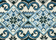 Romanian folk seamless pattern ornaments. Romanian traditional embroidery. Ethnic texture design. Traditional carpet design. Carpe Royalty Free Stock Images