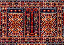 Romanian folk seamless pattern ornaments. Romanian traditional embroidery. Ethnic texture design. Traditional carpet design. Carpe Stock Photo