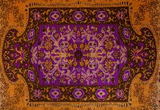 Romanian folk seamless pattern ornaments. Romanian traditional embroidery. Ethnic texture design. Traditional carpet design. Carpe. T ornaments. Rustic carpet stock photo