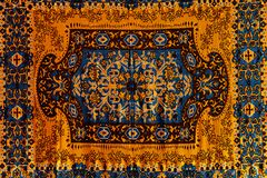 Romanian folk seamless pattern ornaments. Romanian traditional embroidery. Ethnic texture design. Traditional carpet design. Carpe. T ornaments. Rustic carpet royalty free stock image