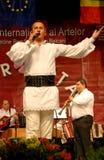 Romanian folk singer at a festival Royalty Free Stock Photography