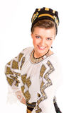 Romanian folklore clothes traditional. Lovely woman stock images