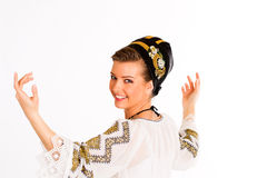 Romanian folklore clothes traditional Royalty Free Stock Photo