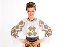 Romanian folklore clothes traditional Royalty Free Stock Photos