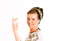 Romanian folklore clothes traditional Stock Photography