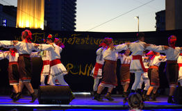Romanian folklore group performance Stock Image