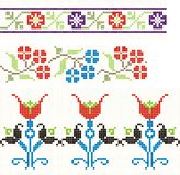 Romanian folks sewing. Embroidered good like handmade cross-stitch folks Romanian pattern vector illustration