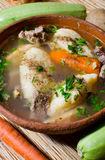 Romanian food - dumplings soup royalty free stock photography