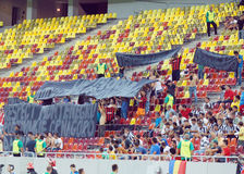 Romanian Footbal Fans Thank Montenegro Royalty Free Stock Photography