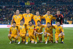 Romanian football team Royalty Free Stock Photos
