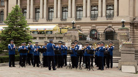 Romanian Gendarmerie Military Music Band Royalty Free Stock Photos