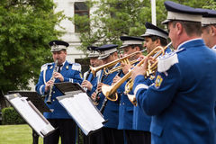 Romanian Gendarmerie Military Music Band Stock Image