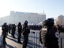 Romanian Gendarmes guard Govern HQ Royalty Free Stock Photos