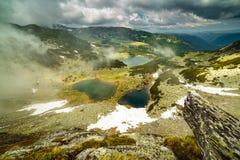 Romanian glacial lakes Stock Photo