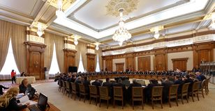 Romanian Government led by Sorin Grindeanu - Romanian Parliamen stock photography