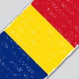 Romanian grunge flag. Vector illustration. Stock Photography