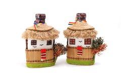Romanian handmade bottles Royalty Free Stock Images