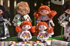 Romanian handmade dolls stock photo