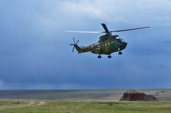 Romanian helicopter IAR-330 Puma Socat Stock Images