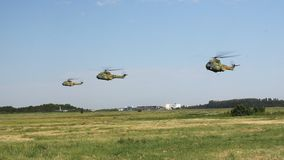 Romanian helicopters stock video footage