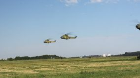 Romanian helicopters stock footage