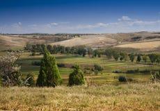 Romanian hills in Oltenia area stock photography